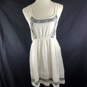 Earthbound white and blue dress